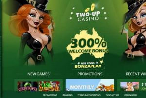 Two uP Casino Australia login