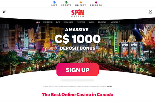 Spin Casino NZ and Canada