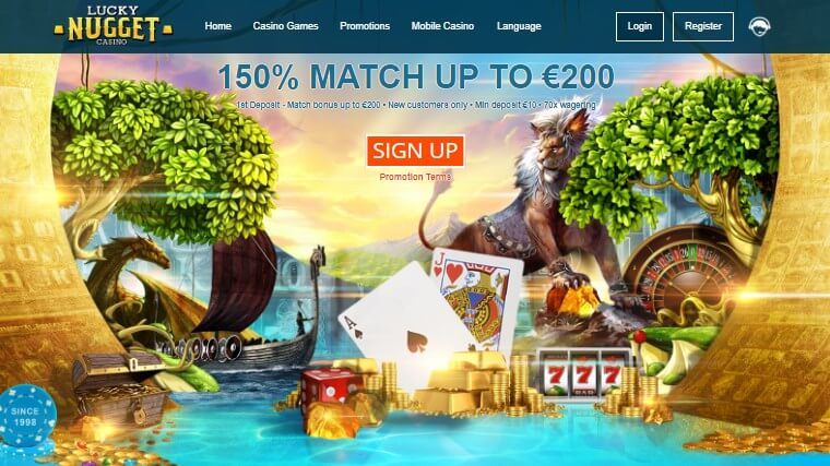 Lucky Nugget Mobile Casino NZ login